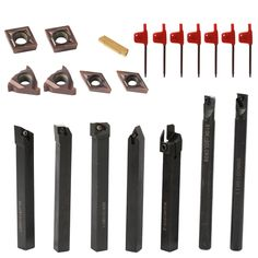 Lathe Turning Tool Solid Carbide Inserts Holder Boring Bar With Wrenches For Lathe Turning Tools Lathe Cutter Cnc Router, Tool Store, Home Tools, Diy Tools, Turning Tools, Lathe Tools, Metal Working Tools, Milling Machine, Wrench Set