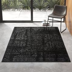 Bridport Oriental Black Area Rug Rug Size: Rectangle x All Modern, Modern Decor, Modern Furniture, Living Room Carpet, Rugs In Living Room, Office Rug, Modern Area Rugs, Indoor Outdoor Area Rugs, Indoor Hammock