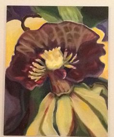 Other worldly orchid.  Oil on canvas.