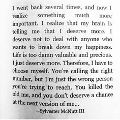 You don't deserve to know me !