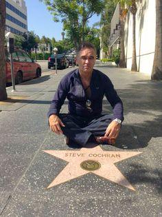 Morrissey in Hollywood at Steve Cochran star (2013).