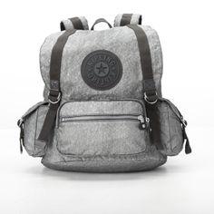 Joetsu Small Backpack - Kipling #silver #glimmer #grey