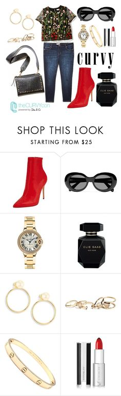"""""""Curvy, and I love it 💁"""" by ellleonora ❤ liked on Polyvore featuring Acne Studios, Cartier, Elie Saab, ZoÃ« Chicco, GUESS, Givenchy, contestentry, TheCurvyCon and MyDiaStyle"""