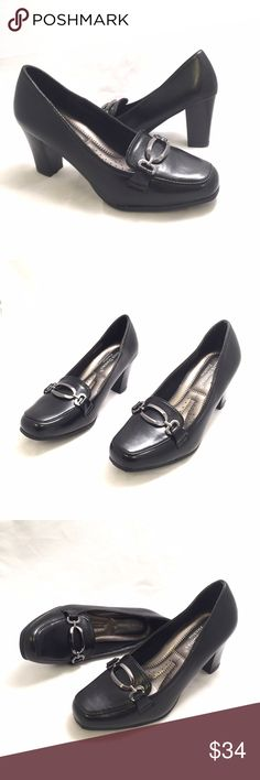 Pierre Dumas Black Block Heels Work Pumps When style meets comfort. Gorgeous block heels with cushioned insole. 3' heels. Medium width and true to size. Pierre Dumas Shoes Heels