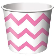 Candy Pink Chevron Striped paper treat cups are the ideal size for serving snacks, ice cream, candy or filled with small party favors. Our Chevron striped paper treat cups are disposable and feature the popular chevron stripe pattern in pink on a white background. The paper treat cups are constructed from medium weight card-stock and will brighten up any spring event, birthday party, Baby shower or any other special occasion. Treat cups measure 2.5 Inches x 3.5 Inches and package contains 6…