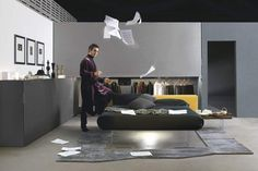 AIR BED | LAGO | Pinterest | Bed design, Shelves and Contemporary