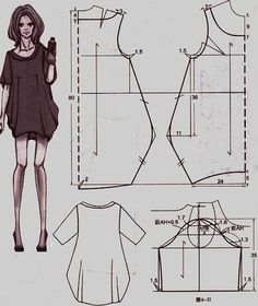 Dress tailor sew Abito a palloncino Diy Clothing, Sewing Clothes, Clothing Patterns, Dress Patterns, Sewing Patterns, Dress Sewing, Fashion Sewing, Diy Fashion, Fashion Ideas