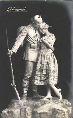 "Abschied, WWI German soldier ""goodbye"" postcard"
