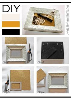 How to make a DIY Picture Frame Tray