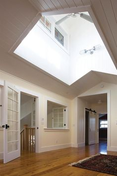 Skylights In Living Room Flat Ceiling With Attic
