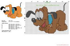 Disney bébé Pluto de Mickey Mouse petit grille point de croix