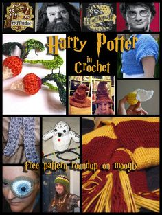 Harry Potter Crochet Patterns - free! Roundup on Moogly! You know I will be making some of these!! Thanks Tamara!!