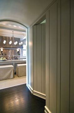 On the plans, our laundry door is in the hallway just near the front door, it'd be cool to have a hidden door like this