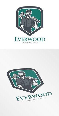 Everwood Alpine Fashion for Men Logo by patrimonio on @creativemarket