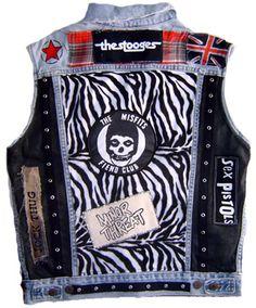 Punk Vest, The Stooges, The Misfits, Minor Threat, Sex Pistols Jeans West, Rocker Costume, Minor Threat, Punk Jackets, Battle Jacket, The Stooges, Diy Clothes Videos, Patches, Diy Couture