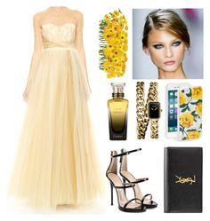"""""""I'm my own garden"""" by marianasm on Polyvore featuring Notte by Marchesa, Giuseppe Zanotti, Yves Saint Laurent, Sonix, Chanel and Cartier"""
