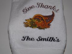 SALE Personalized Thanksfiving  or Fall by maggiesembroidery, $10.00