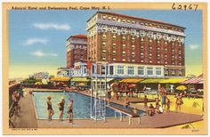 Admiral Hotel in Cape May in the 1930s or early 1940s.