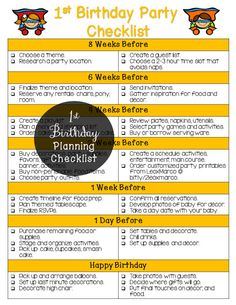 First Birthday Party Planner Printable  Party by LEOxMARCO on Etsy