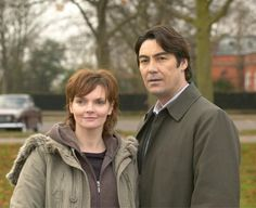 Sharon Small and Nathaniel Parker (The Inspector Lynley Mysteries). Good show, and finally: Police partners who are good friends and don't EVER feel the need to date each other...