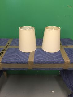 #638 Two small lamp shades for standing lamps # 634