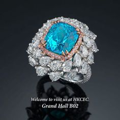 @dehres.   The most amazing and extraordinary 7 carats Brazilian Paraiba Tourmaline. An exceptional color and sparkle.