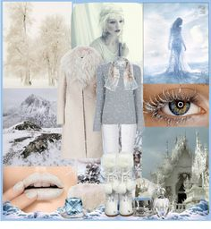 """Winter white and blue"" by tarynsjourney ❤ liked on Polyvore"