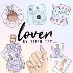 Items similar to Lover Taylor Swift Drawing, Taylor Swift Style, Taylor Alison Swift, Bullet Journal Inspiration, Pattern Paper, Cute Wallpapers, Videos, Clip Art, Lovers