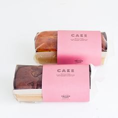 Clear box with sleeve. triton cafe - cake