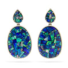 Opal Mosaic Plaque Earrings