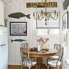 New England Style, 8 Steps to New England Cottage Style, Coastal Living, coastal interiors, cottage, decorating, interior decor, breakfast nook