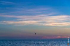 Kite surf na praia da Barra da Tijuca - Rio de Janeiro, Brasil www.arteparada.com www.facebook.com/arteparada  #riodejaneiro #esporte #sport #verão #summer #pordosol #sunset #crepúsculo #twilight #kitesurf — em Brasil.