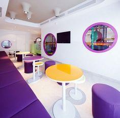 Arresting design for kids at Cafe Phill of Bucharest
