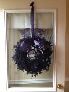My first Halloween wreath!