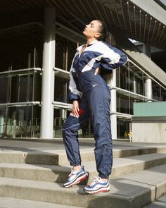 """We teamed up with @niketoronto and @hypebae for a special Air Max Day editorial ✔️Ft. our custom rework flight suit inspired by the OG """"Gundam"""" colorway aka the Seismic Velocity ♥️ @anjaciaga shot by @saragourlay"""