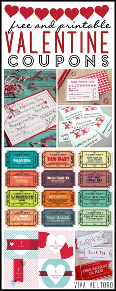 Love this DIY Valentine's Day gift - just print these coupons for your sweetie.