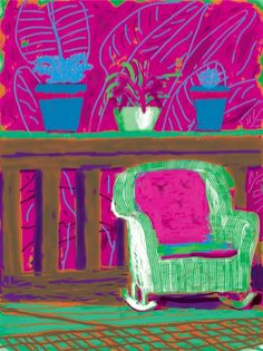2011 by David Hockney (iPad art) David Hockney Ipad, David Hockney Art, David Hockney Paintings, Pop Art Movement, Ipad Art, Famous Art, Arte Pop, Art Plastique, Monet