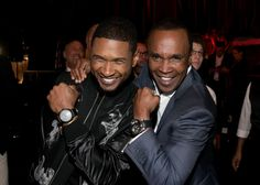 Mama said knock you out for a good cause. Usher and boxing legend Sugar Ray Leonard pull out the big guns to raise funds for Leonard's 5th Annual Big Fighters, Big Cause Charity Boxing Night on May 20 in Santa Monica, Calif.