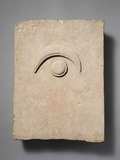 Fragment of a limestone funerary stele with a disk and a crescent, 2nd half of the 6th century B.C. Cypriot culture. Limestone. The Metropolitan Museum of Art, New York. The Cesnola Collection, Purchased by subscription, 1874–76 (74.51.2876). #CosmicWonders