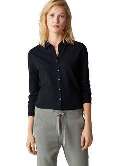 Marc O'Polo Langarm-Poloshirt für 69,90€. Lässiges Langarm-Poloshirt mit durchgehender Knopfleiste, Aus Baumwoll-Piqué mit Elasthan-Anteil bei OTTO