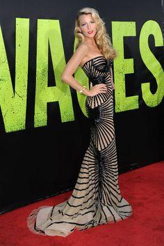 Los mejores looks de alfombra roja de 2012 -  Blake Lively, con vestido de Zuhair Murad Couture