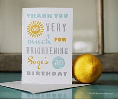 You Are My Sunshine Birthday Party Printable Thank by oliveandiris, $18.00