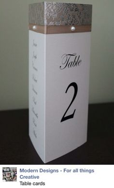 Triangle Table Towers are an easy way to display guests names, table number & menu on tables for special occasions.