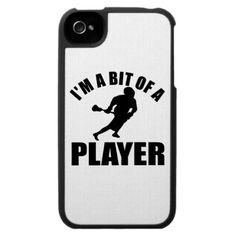 Cool Lacrosse design iPhone 4 Cases