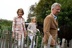 Queen Mathilde, Princess Elisabeth and King Philippe of Belgium visit Sealife on July 12, 2014 in Blankenberge, Belgium.