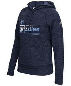 adidas Women's Memphis Grizzlies Color Slant Hoodie - Blue XL