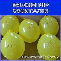 Balloon Pop Countdown... including free printable Countdown to the last day of school.  (Would also work for counting down to the first day of school.)