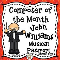 John Williams Musical Passport (Composer of the Month) Drum Lessons, Piano Lessons, Music Lessons, Guitar Lessons, Guitar Tips, Music Activities, Writing Activities, Writing Lines, Music Worksheets