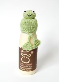 Free Knitting Pattern for Frog Hat for Innocent Smoothies Big Knit - Oliver Boliver