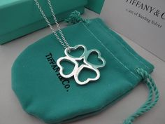 Tiffany Clover Pendant Necklace for the luck of the Irish, St. Patrick's Day, or just Good Luck.